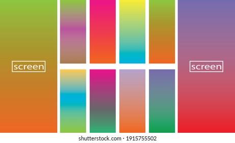 Soft color gradients background. Modern screen vector design for mobile app.