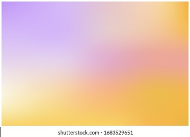 Soft color mesh gradient background. Abstract vector design. Concept for graphic design banner or poster Easy editable soft colored. Vector illustration