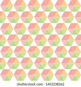 Soft color traingle shape hexagon geometric pattern vector