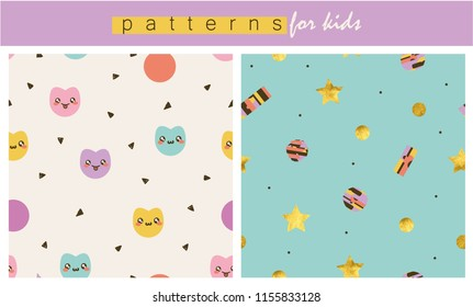 Soft colored lovely patterns for kids.