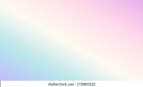 Soft colorful background with gradient pastel color palette. Vector illustration for banner, presentation template, wallpaper, text place and social media. Abstract geometric fashion.