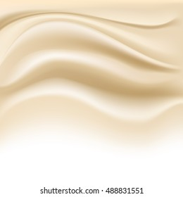 soft creamy background on white. vector illustration