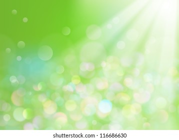 Soft defocused background with sunrays coming through
