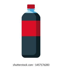 soft drink bottle dark water red packing vector illustration