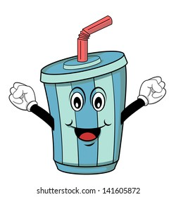 cartoon soft drinks images stock photos vectors shutterstock rh shutterstock com cartoon drinking coffee cartoon drinking wine