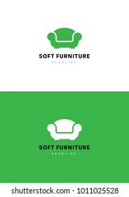 Soft furniture logo template.