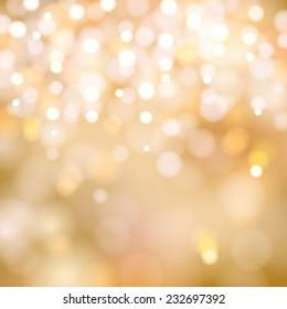 soft golden Christmas lights - festive bokeh background