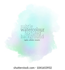 soft green watercolor stain