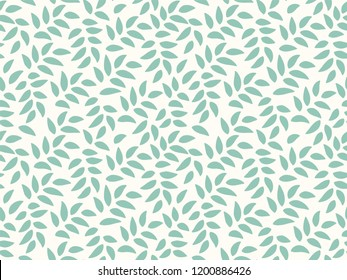 Soft Leaves Pattern. Endless Background. Seamless