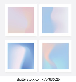 Soft pastel background collection in winter season pink and blue color hues