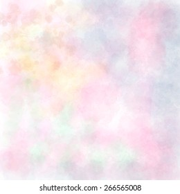 Soft pastel bright colored calm abstract background for design. Watercolor texture paper effect. Vector background.