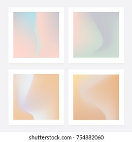 Soft pastel gradient collection