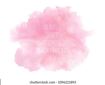 Soft pink powder color watercolor background. Vector illustration