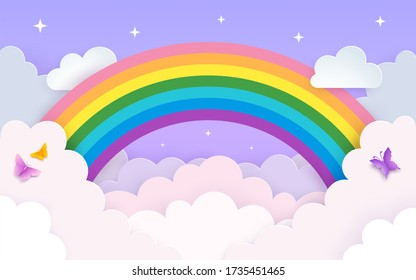 Rainbow Clouds Images Stock Photos Vectors Shutterstock