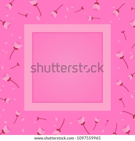 soft pink tulip flowers petals scattered stock vector royalty free