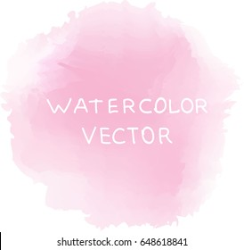 soft pink watercolor background, vector
