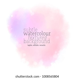 soft pink watercolor stain
