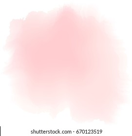 soft pink watercolor, vector.
