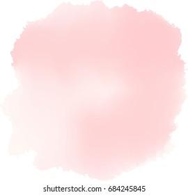 soft pink watercolor. vector