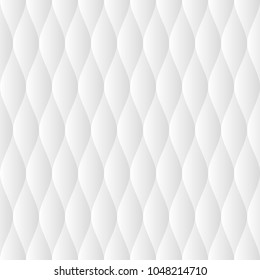 Soft quilt seamless pattern. Neutral white tileable vector background.
