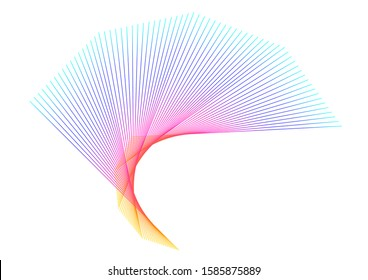 Soft rainbow color. Linear background. Design elements. Poligonal lines. Guilloche. The protective layer for banknotes, diplomas and certificates template. Vector illustration EPS 10 for elegant card