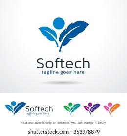 Soft Technology Logo Template Design Vector