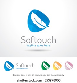Soft Touch Logo Template Design Vector