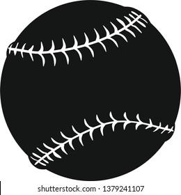 Softball ball vector