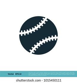 Softball, Baseball, Ball Icon Vector Logo Template Illustration Design. Vector EPS 10.