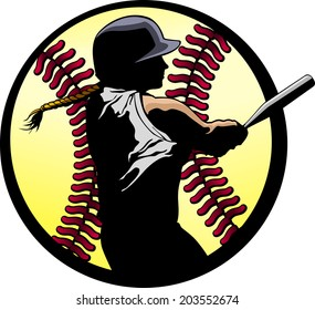 a softball batter hitting a home run, silhouetted in a fast-pitch softball.
