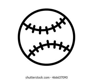 softball icon sport equipment tool utensil image vector