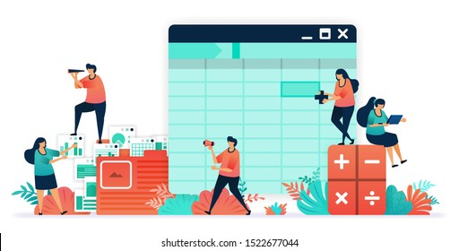 Software for accounting with sheet, formula, calculators. make balance sheet easier with software. organizing accounting, financial, banking data in folder.  company bookkeeping report by accountants