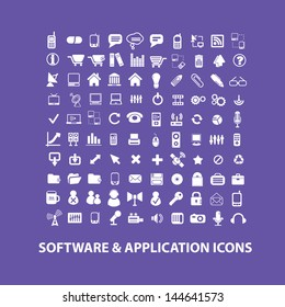 software, application, interface, system icons, signs set