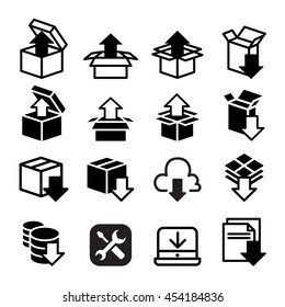Software & Application , Setup , configuration, maintenance & Installation icon set