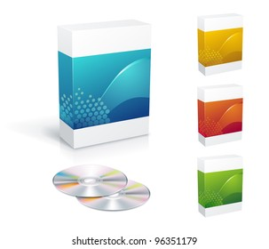 Software box set with copy-space