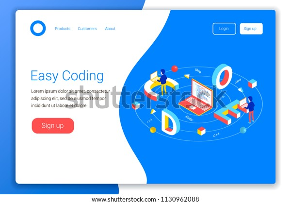Software Development Concept Code 3d Word Stock Vector