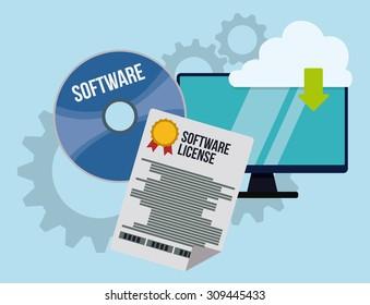 Software digital design, vector illustration eps 10.
