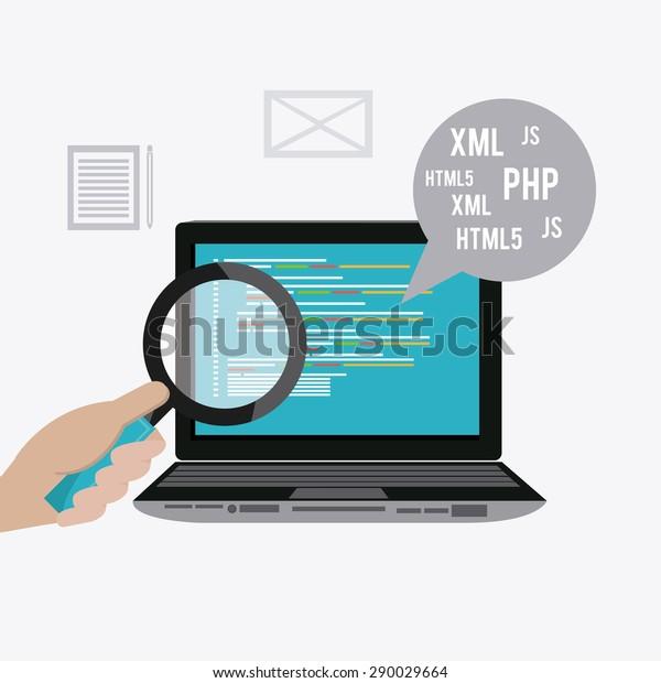 Software digital design, vector illustration eps 10