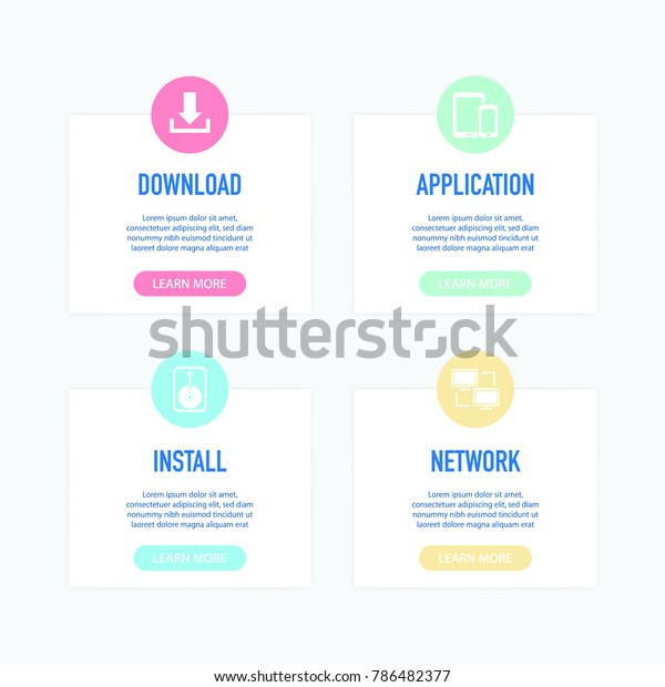 Software Engineering Infographic Icons Stock Vector (Royalty Free