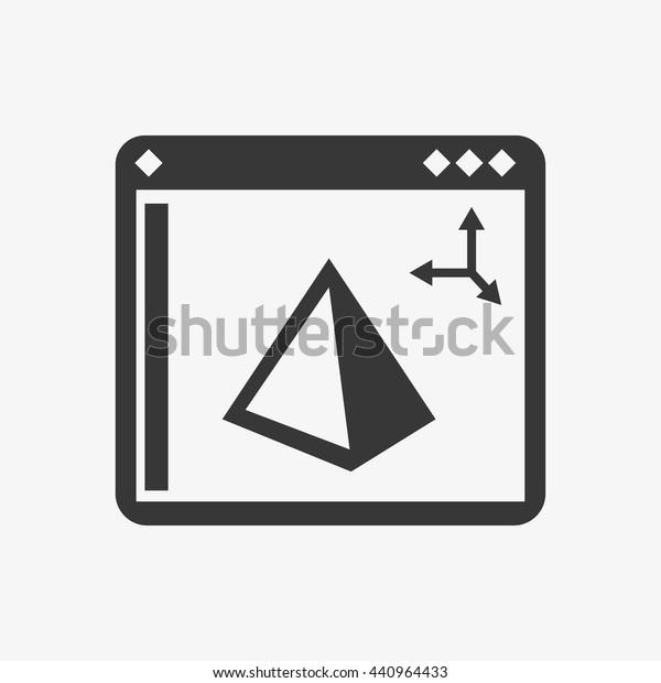 Software Icon 3d Printing Logo Design Stock Vector (Royalty