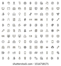 Software line icon set. Collection of high quality black outline logo for web site design and mobile apps. Software vector illustration on a white background