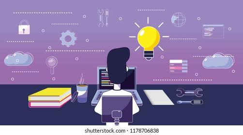 Software programmer cartoon