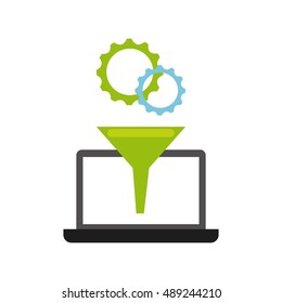 software programming concept icon vector illustration design