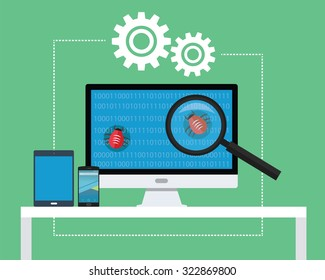 software testing all devices find bugs and tester
