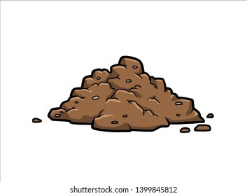 soil / cartoon vector and illustration, hand drawn style, isolated on white background.