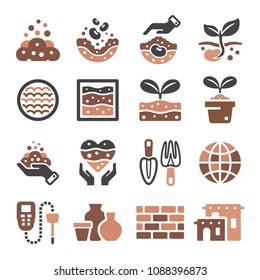 soil icon set