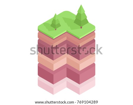 Soil Layers Diagram Isometric Soil Horizons Stock Vector Royalty