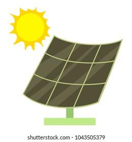 Solar battery icon. Cartoon illustration of solar battery vector icon for web