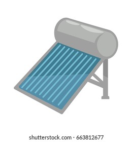 Solar battery in shiny metal corpus isolated illustration
