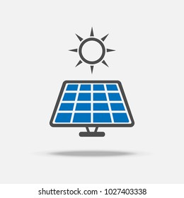 Solar cell logo and icon. Power and Energy saving concept. Illustration vector collection set. Sign and Symbol theme.